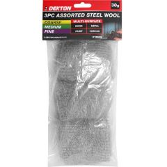 3 Piece Steel Wool Assorted Pack